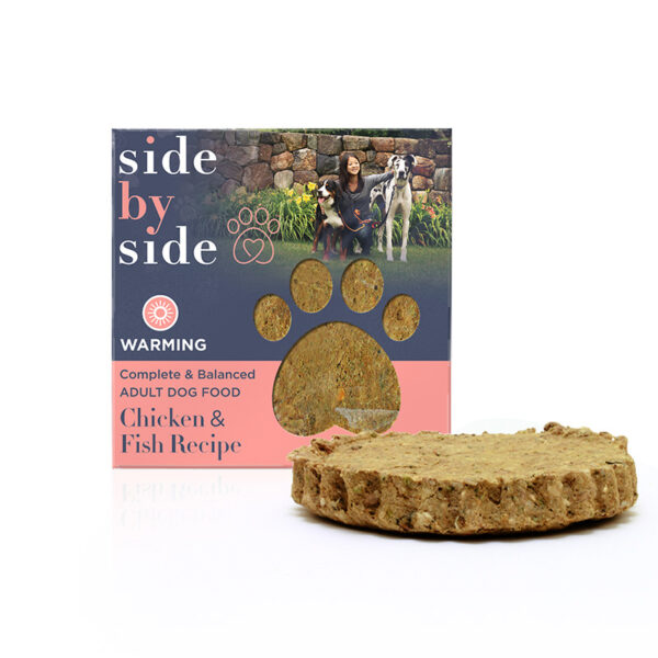 Side by Side Pet - Single Serve Patty - Warming Chicken & Fish Back