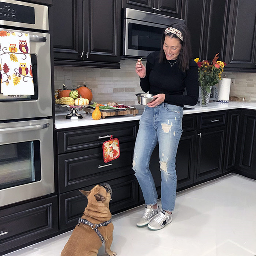 Pet and owner in Kitchen